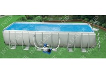 Бассейн каркасный Intex Rectangular Ultra Frame Pool, 732х366х132 см 28362