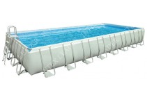 Бассейн каркасный Intex Rectangular Ultra Frame Pool, 975х488х132 см 28372